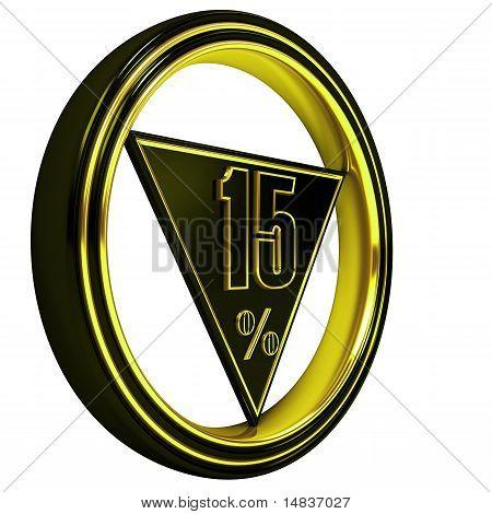 Yellow metal fifteen Percent