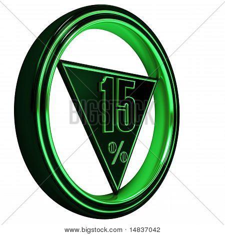 Green metal fifteen Percent