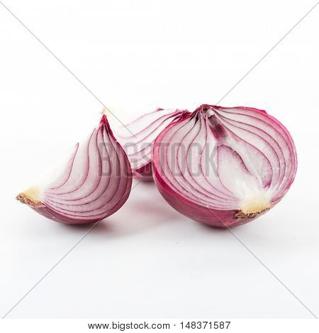 red onion on a white background.