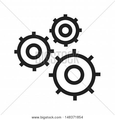 Cogwheel, engineering, gear icon vector image. Can also be used for Industrial Process. Suitable for mobile apps, web apps and print media.