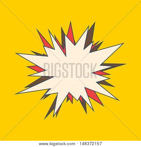 Bang speech bubble. Explosive exclamation comic sign