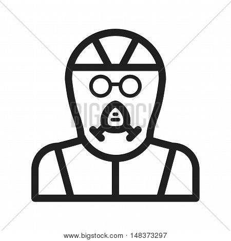 Mask, gas, equipment icon vector image. Can also be used for Industrial Process. Suitable for mobile apps, web apps and print media.
