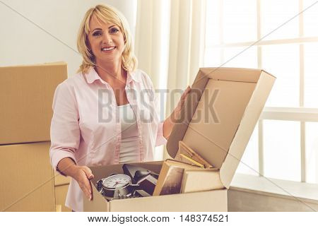 Beautiful Woman Moving