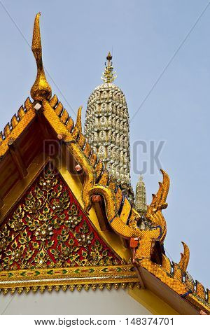 Asia  Thailand    Sunny    Palaces     Sky      And  Colors      Mosaic