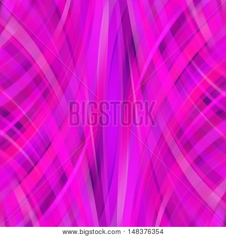 Vector Illustration Of Pink Abstract Background With Blurred Light Curved Lines. Vector Geometric Il