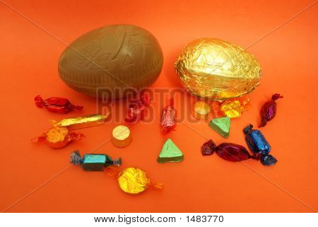 Easter Chocolate And Sweets. Diversity.