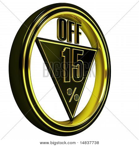 Yellow metal fifteen Percent off