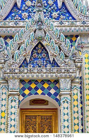 Blur Door      Gold    Temple    Bangkok  Thailand