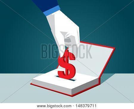 Book. Concept Business Vector Illustration. Vector Flat