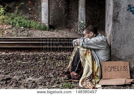 Desperate Homeless Woman