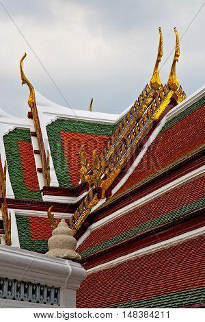 Asia  Thailand    Bangkok  Rain   Temple   Religion  Mosaic