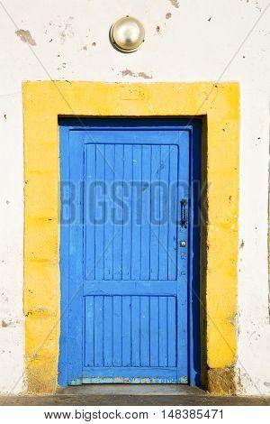 Antique Door In Morocco Glass Lamp