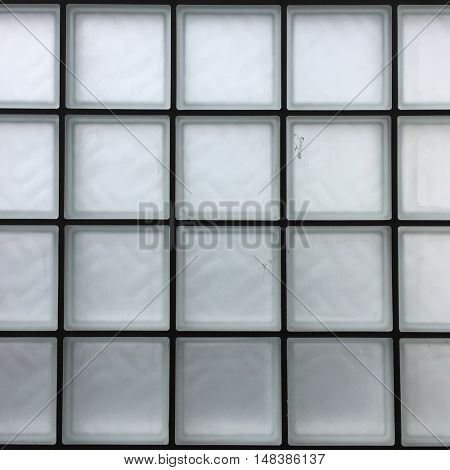 Frosted Glass Brick Wall