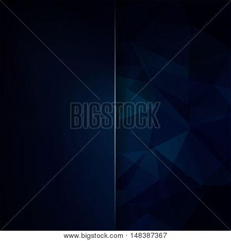 Abstract Polygonal Vector Background. Dark Blue Geometric Vector Illustration. Creative Design Templ