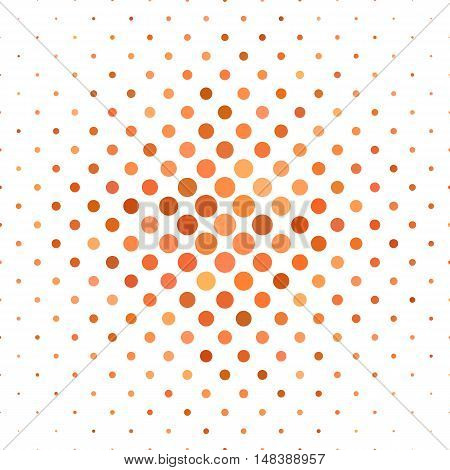 Orange dot pattern background design - vector illustration
