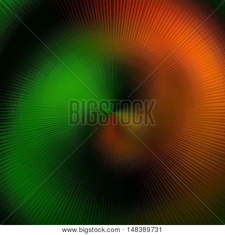 art abstract graphic spherical blurred colored background in green and orange  colors; geometric pattern