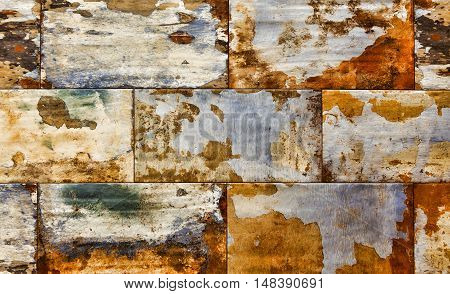 Abstract corroded colorful rusty background, rusty texture