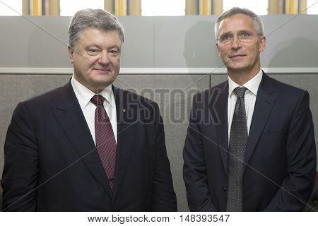 President Petro Poroshenko And Nato Secretary General Jens Stoltenberg