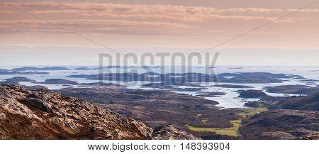 Panoramic Norwegian Coastal Landscape