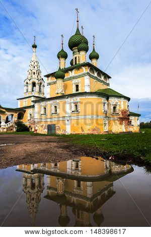 Church of St John the Baptist with reflection, Uglich, Russia
