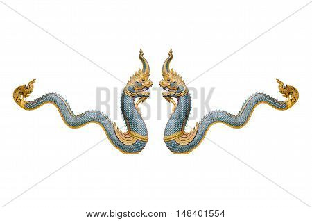 Dragon stucco isolate on a white background