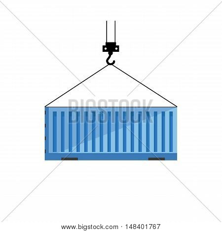 Cargo or shipping container icon isolated on white background.