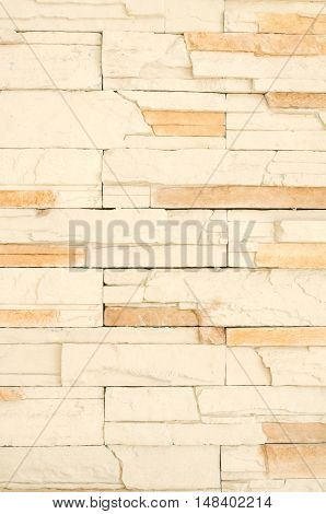 Background of stone wall made with blocks