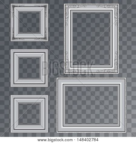 Illustration of Vector Poster Frame. Realistic Isolated on PS Style Transparent Background