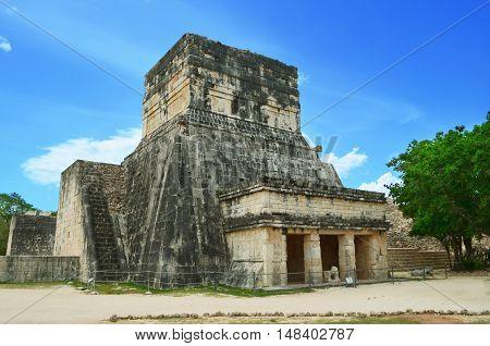 Ancient mayan pyramids in Mexico Yucatan island
