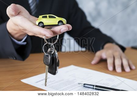poster of Car Key For Vehicle Sales Agreement.