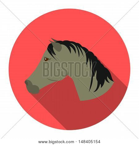 Muzzle horse icon design. Singe western icon from the wild west flat.