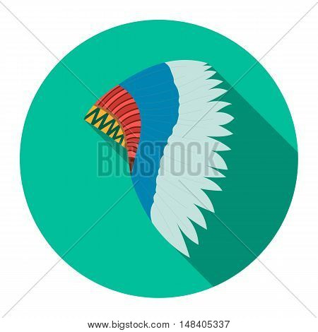 Mohawk indian icon design. Singe western icon from the wild west flat.