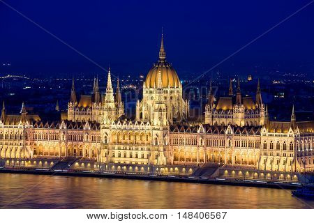 The Hungarian Parliament Building also known as the Parliament of Budapest.One of Europe's oldest legislative buildings a notable landmark of Hungary and a popular tourist destination of Budapest.