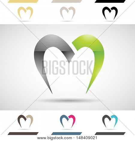 Design Concept of Colorful Stock Icons and Shapes of Letter M, Illustration