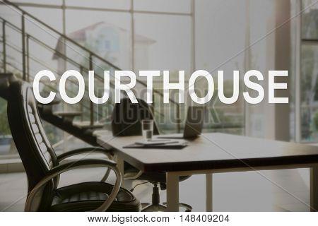 COURTHOUSE. Stylish office interior