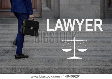 LAWYER. Businessman with suitcase
