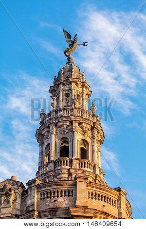 Great Theatre Roof, Old Town, Havana