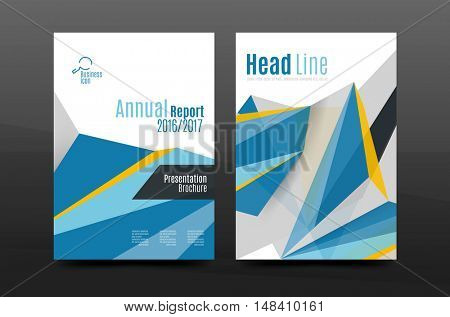 Modern minimal composition. Business annual report cover design. abstract background