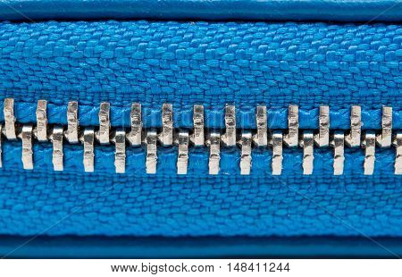 open zipper on a bag entertainment, shiny, retro closeup