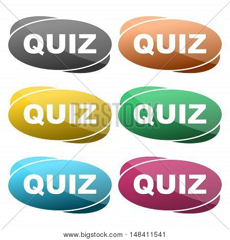 Quiz sign icon. Questions and answers game symbol