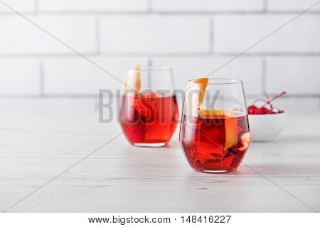 Fresh Home Made Negroni Cocktails