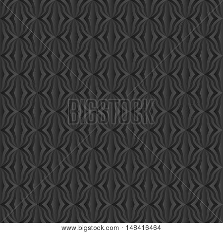 black pattern seamless or decorative background - vector illustration