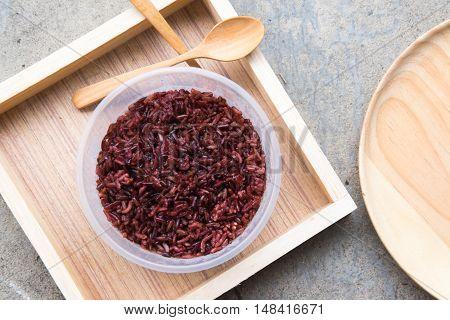 Thai Red Jasmine rice (Rice berry) healty food