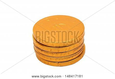 Gold coins. marketing On a white background.