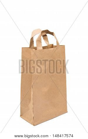paper bag  commercial isolated on white background