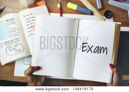 Final Exam Results Test Reading Books Words Concept