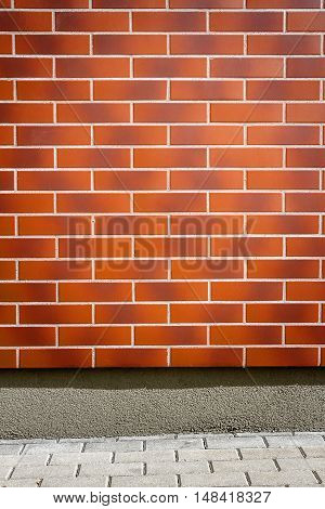 Modern vibrant brown brick wall as a background image