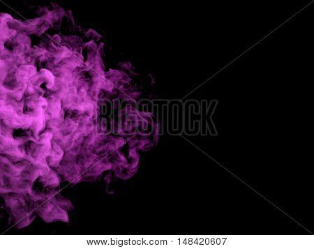 Illustration Of Pink Smoke