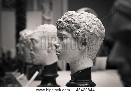 The ancient marble portrait bust