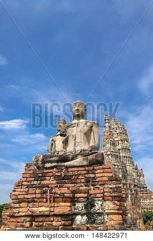 Wat Chaiwatthanaram in Ayutthaya, the Old Capital of Thailand